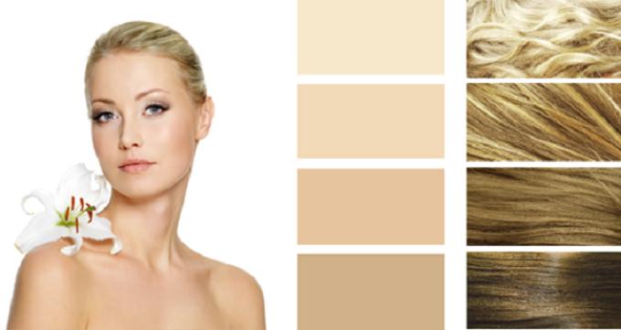 Палитра красок для волос для весеннего типа внешности