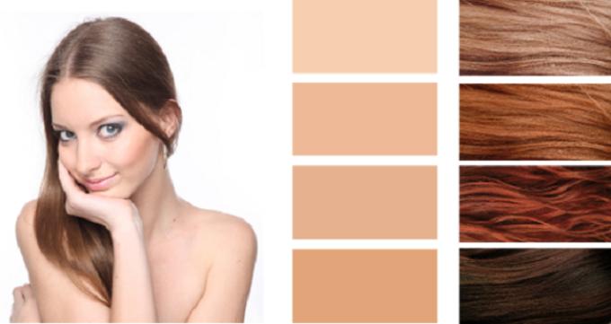 Палитра красок для волос для осеннего типа внешности